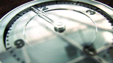 Modern Clock Face 12 On The Dot 4K neutral, Stock Animation