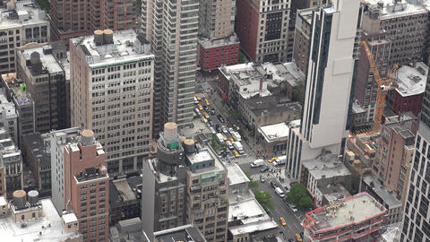 New York City, USA: New York City Manhattan skyline buildings wide shot from the Live Action