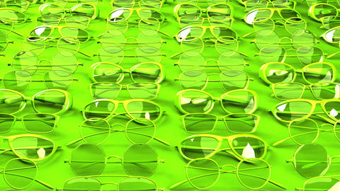 Many green glasses Animation