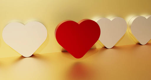 Dating service concept with a red heart. Symbol of search... Stock Video Footage