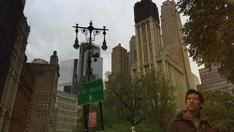 New York City, USA: The Woolworth Building,Broadway, one of the 100 tallest Footage