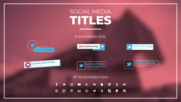 Social Media Titles I モーショングラフィックステンプレート