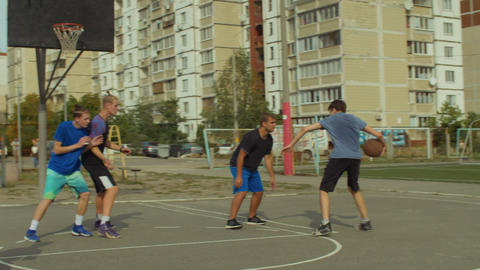Basketball player scoring field goal with jump shot Footage