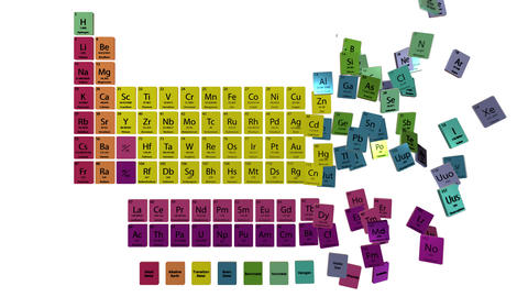 Periodic Table Animation 4k