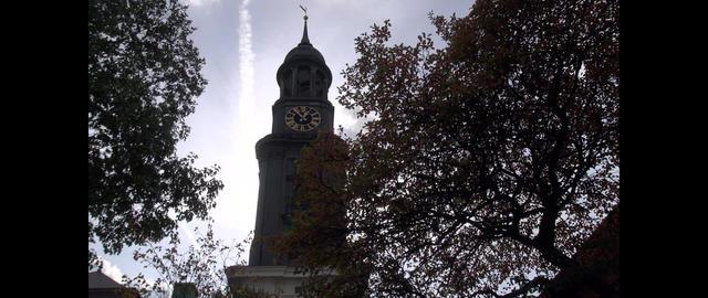 St. Michael's Church, Hamburg, Germany, Motion time lapse Footage
