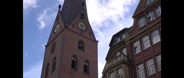 Time lapse: St. Peter's Church (German: Hauptkirche St. Petri, German coll Footage