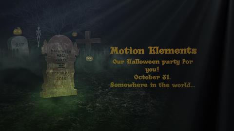 Halloween Dark Opener After Effectsテンプレート