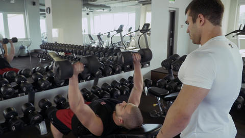 Two sports guys in the gym Footage