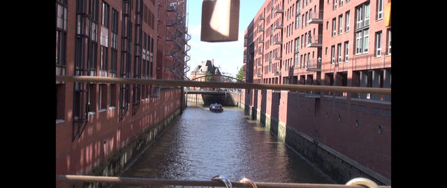 Motion time lapse: Fleet in the Speicherstadt, Hamburg, Germany Footage