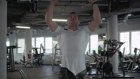 Handsome guy in the gym Footage
