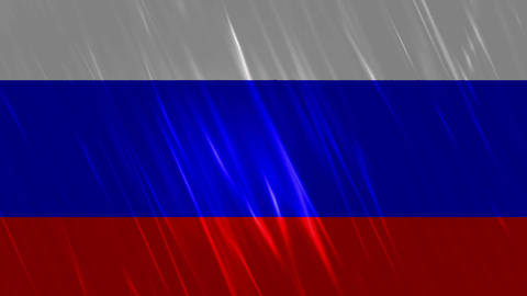 Russia Flag Loopable Background Animation