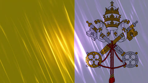 Vatican City State Flag Loopable Background stock footage