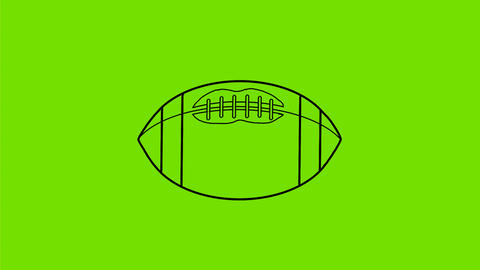 American Football Ball Spinning 2D Animation Animation