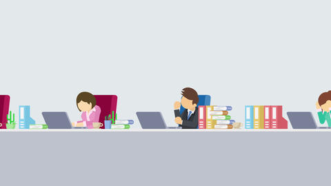 Business team is working. Business communication concept. Loop illustration in Animation