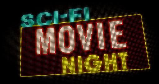 Sci-fi Movie Night intro Animation