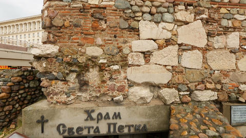 SOFIA, BULGARIA - CIRCA SEPTEMBER 2014: Sightseeing in the city. Exterior walls Footage