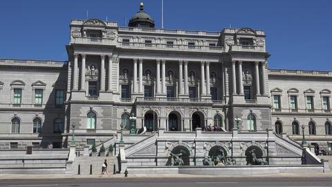 WASHINGTON, DC, USA - Circa 2017: Library of Congress… Stock Video Footage
