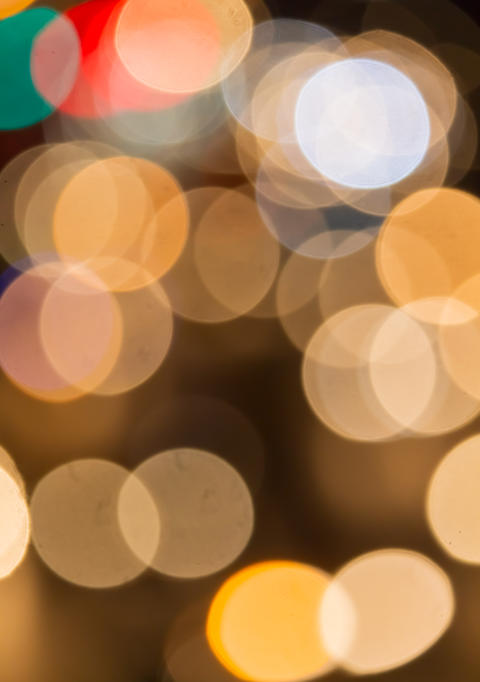 Background bokeh circle is abstract. Sparkling glitter Christmas and New Year フォト