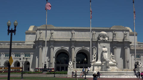 WASHINGTON, DC, USA: Columbus Fountain, located at Union Station in Washington Live Action