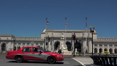 WASHINGTON, DC, USA: Columbus Fountain, located at Union... Stock Video Footage