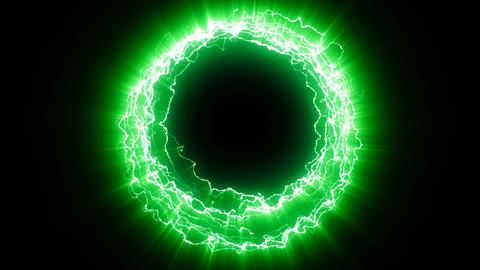 Electric portal green Animation