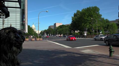 WASHINGTON DC, USA. The US Capitol Building at the Pennsylvania Avenue Footage