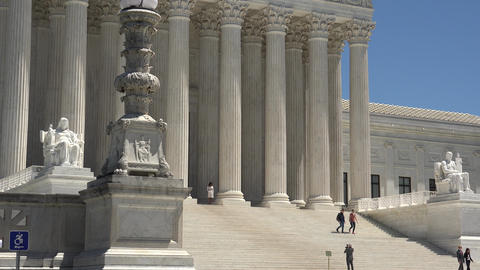 Washington DC: Untied States Supreme Court Building Stock Video Footage
