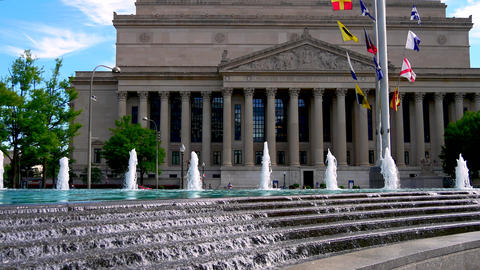 WASHINGTON DC, USA: The National Archives building in... Stock Video Footage
