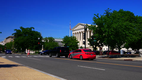 Washington DC: Untied States Supreme Court Building Stock Video Footage