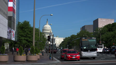 WASHINGTON DC, USA. The US Capitol Building at the Pennsylvania Avenue GIF