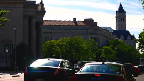 WASHINGTON DC, USA. Building at the Pennsylvania Avenue… Stock Video Footage