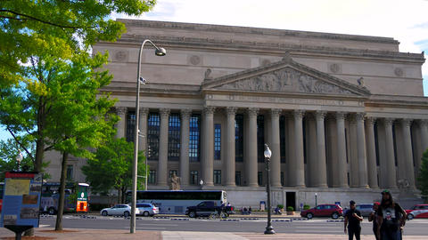 WASHINGTON DC, USA: The National Archives building in downtown DC Live Action