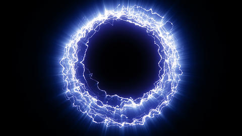 Electric portal blue Animation