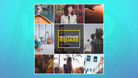 Multiframe Square Slideshow Premiere Proテンプレート