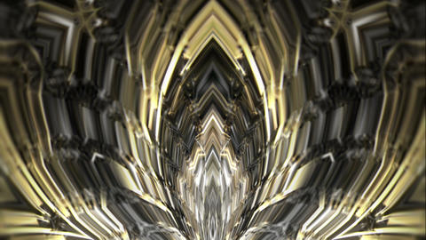 Liquid Sparkling Waves Of Silver Energy And Golden Geometrical Particles VJ Loop Live Action