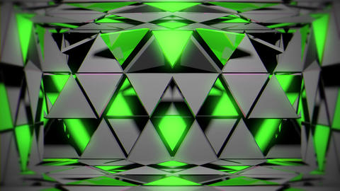 Green Silver Metalliv Triangles Sparkling Shining Particles Motion Blck Live Action