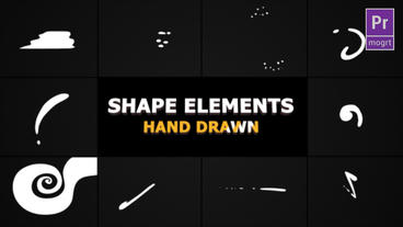Flash FX Shape Elements Motion Graphics Template