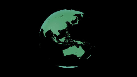 Earth CG 18 A2LB 4k Stock Video Footage