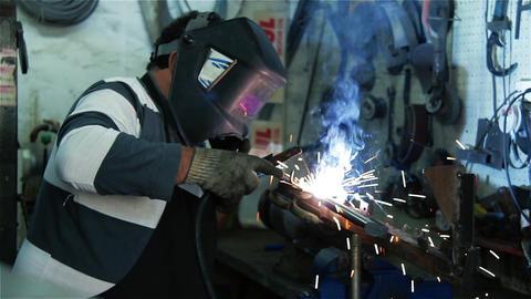 Worker Welding Metal GIF