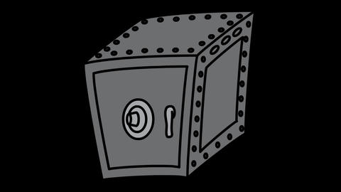 Safe Strongbox icon Line Drawing Animation Transparent Vector Motion Graphics Animation
