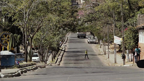 Street Of Asuncion, In Paraguay Footage
