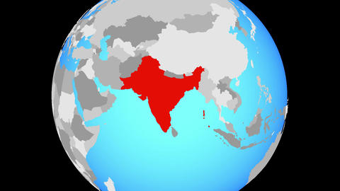 Zooming to British India on globe Animation
