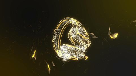 Headphones in plexus Animation