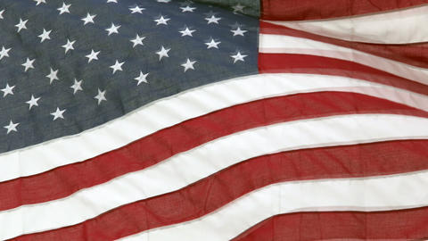 American Flag Close Slow Motion stock footage