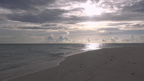 A Scenic Sunset On The Desert Island Of The Maldives Archipelago stock footage