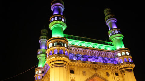 Heritage Construction Charminar Night Live Action