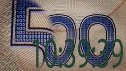 digital timer on banknote magnifier Footage