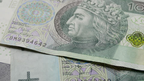 4K Ungraded: Counting Polish Zloty (PLN) Banknotes Footage