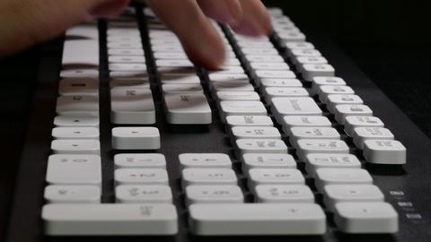 4K Ungraded: Hands on Keyboard / Typing on Computer / Keyboard Keys Footage