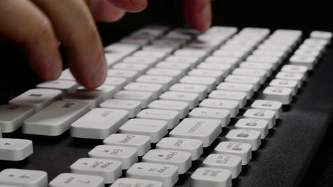4K Ungraded: Hands on Keyboard / Typing on Computer / Keyboard Keys Footage